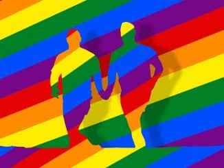 Dos arcoiris gay