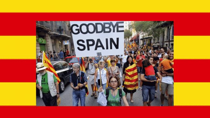 manifestación indipendentista en Barcelona