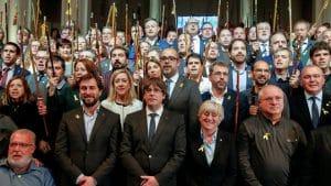 Puigdemont en Bruselas con 200 alcaldes