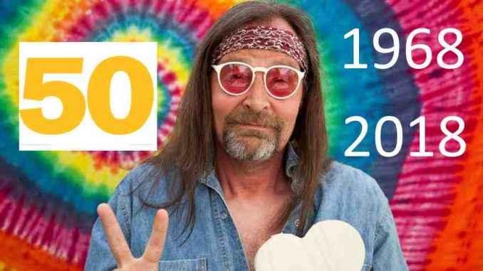 Hippie, mayo 1968 50 aniversario en 2018