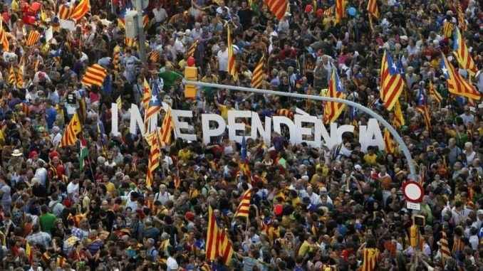 Manifestación para la indipendencia de Cataluña