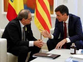 Spanyol: pertemuan pertama dari dua kepala pemerintahan, satu negara (Sánchez), otonom lainnya (Torra)